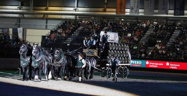 Bei der Leipziger Pferdenacht gibt es ein Wiedersehen mit dem legendären Wernesgrüner Sechserzug © Thomas Hellmann