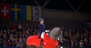 Bis zu den Olympischen Spielen in Rio de Janeiro 2016 wird man Charlotte Dujardin (GBR) und ihren Valegro noch gemeinsam sehen. © FEI/Arnd Bronkhorst.