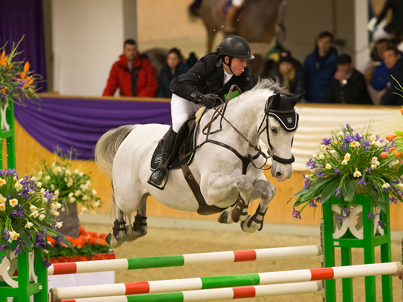 GLOCK Rider Gerco Schröder hat mit GLOCK's Cognac Champblanc N.O.P. nun ein zweites Pferd im Programm der Stichting N.O.P. © Michael Rzepa
