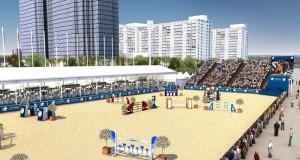 Das Stadion am Miami Beach © Longines Global Champions Tour Miami Beach