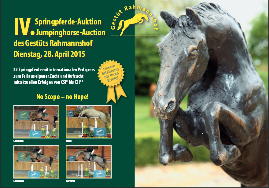 Click on the picture to see the auction catalogue. © Gestüt Ramannshof