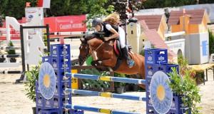 Michele Ruth, hier im Archivbild auf Lena, konnte die zweite EQWO.net Pony Grand Prix Qualifikation für sich entscheiden. © horsesportsphoto.eu