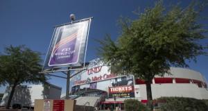 Die Thomas & Mack Arena in Las Vegas (USA) ist bereit für das FEI World Cup™ 2015 Finale. © FEI/Dirk Caremans