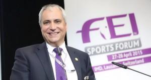 FEI Präsident Ingmar De Vos beschloss das FEI Sports Forum 2015. © FEI/Germain Arias-Schreiber