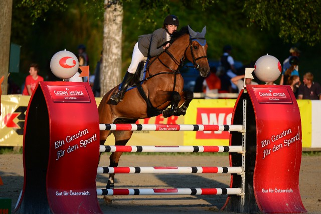 Anna Markel bestritt in Farrach ihr erstes S**-Springen. © Ingomar Gröbl