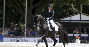 A year after winning the 5-Year-Old title, Sezuan, ridden by Germany's Dorothee Schneider, returned to the FEI World Breeding Dressage Championships for Young Horses 2015 at Verden, Germany to top the 6-Year-Old category at the weekend. © FEI/Dirk Caremans