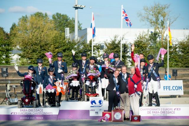 Team Gold für Großbritannien, Silber für ie Niederlande und Bronze ging nach Deutschland. © Jon Stroud/ FEI