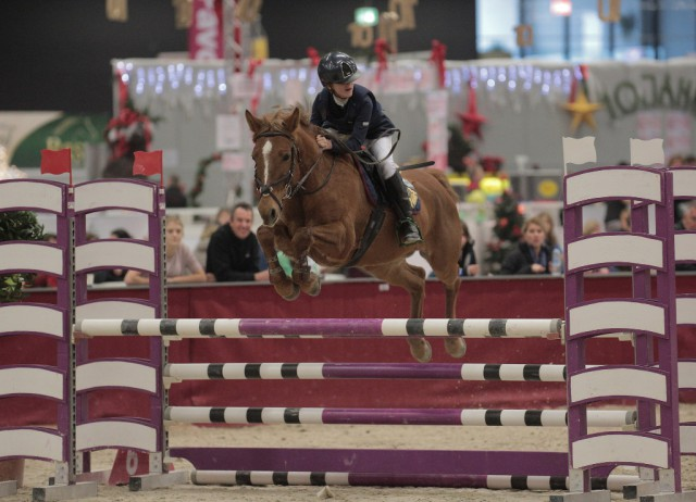 Klara Goess-Saurau (B) und Jorrit waren in der Orthovet Pony Tour super! © Fotoagentur Dill
