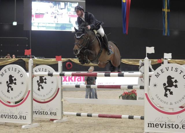 Alfred Greimel (AUT/St) und Collado konnten sich im CSI2* Sportland Salzburg Grand Prix. © Fotoagentur Dill