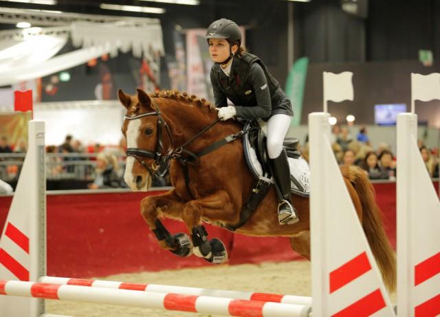 Viktoria Schörken kürte sich mit Panino in der AFP Pony Tour zur Siegerin. © Fotoagentur Dill