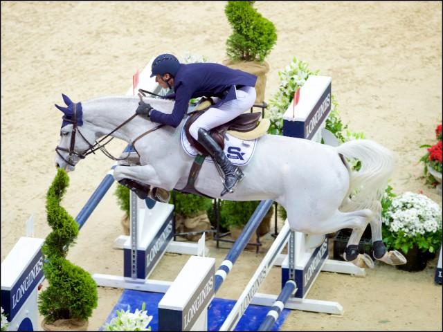Daniel Deusser und Cornet d'Amour freuten sich über Platz drei im Weltcup. © Arnd Bronkhorst