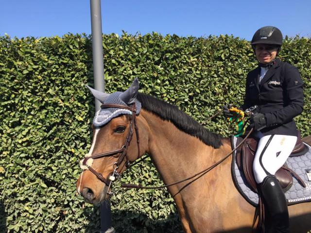 Alpenspan Lady Gudrun Pirker sicherte sich mit Alpenspan Citadelle einen tollen dritten Platz in San Giovanni (ITA). © Privat
