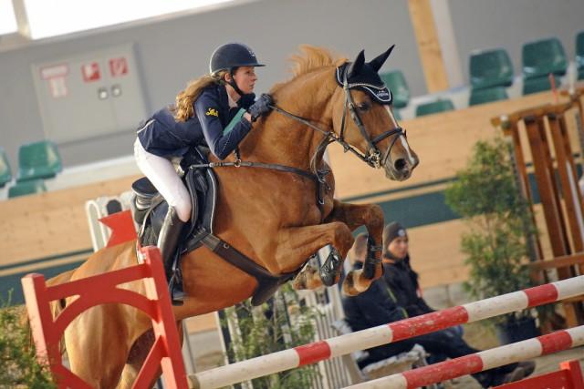 Marie Christine Sebesta konnte mit ihrer Kara Luna in Ebreichsdorf punkten. © horsesportphoto