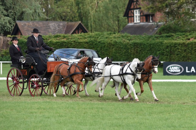 Michael Bugener (GER),  Pony Four-in-hand Dressage Phase. © Kit Houghton