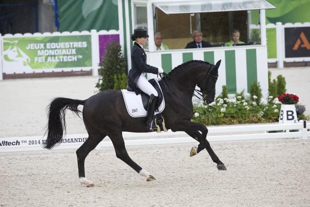 Kristina Bröring-Sprehe (GER) und Desperados FRH  bei den Alltech FEI World Equestrian Gamesª 2014 - Normandy, France. © Hippo Foto Team - Leanjo de Koster 25/06/14