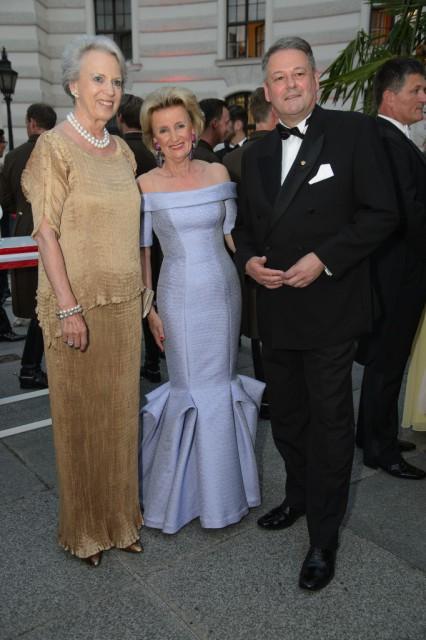 Prinzessin Benedikte zu Dänemark, Elisabeth Gürtler und Andrä Rupprechter. © SRS