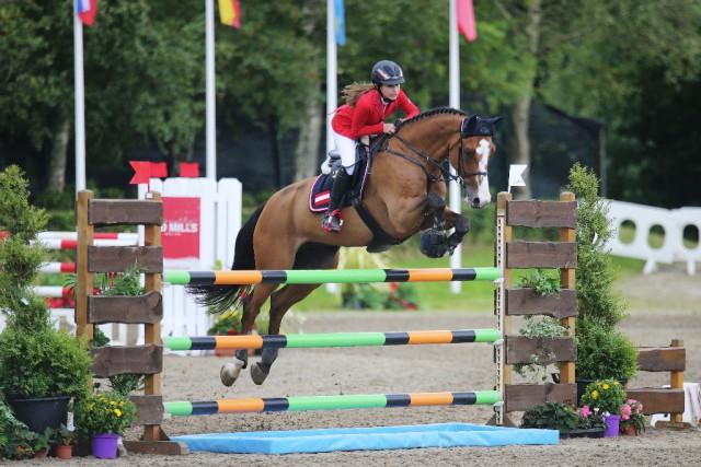 Sidra Kuzbari und Contadino lieferten das beste österreichische Ergebnis in der ersten Einzelqualifikation der Children ab. © Laurence Dunne | Jumpinaction.net