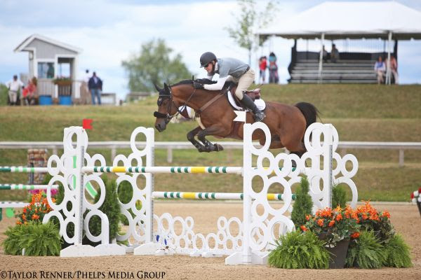 Scott Lenkart and Ziezo kicked off their week at the Great Lakes Equestrian Festival with a win in Thursday's 1.40m Jumpers. © Taylor Renner/Phelps Media Group