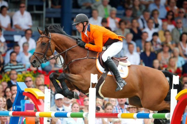 Will World and European Champion Jeroen Dubbeldam (NED) also win the Olympic gold medal? © FEI / Stefano Grasso