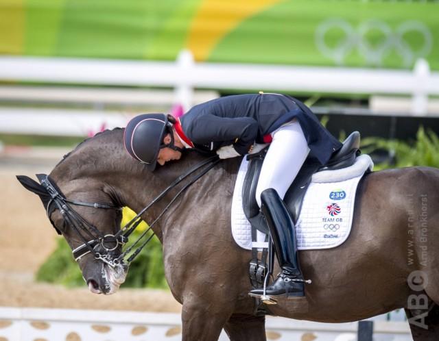 So viel Emotion, so viel Freude beim Reiten! Charlotte Dujardin (GBR) und Valegro im olympischen Grand Prix. © Arnd Bronkhorst – www.arnd.nl