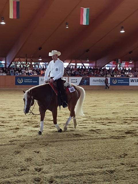 Mit einem Score von 222,0 krönten sich Gennaro Lendi und Yankee Gun zu den Reining-Weltmeistern. © EQWO.net