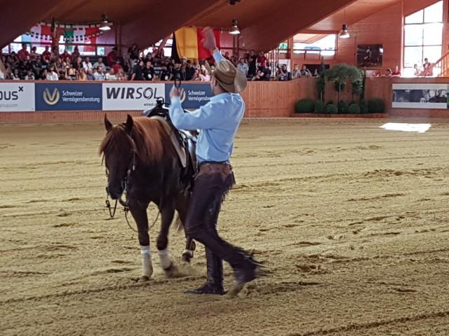 Spannender ging's kaum: Grischa Ludwig ging nach einem Stechen mit der Tina Künstner-Mantl als Gewinner vom Platz und erreichte die Silbermedaille. © EQWO.net