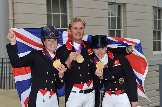 Das Team Großbritannien brennt in Rio auf die Titelverteidigung in der Dressur. © FEI/Kit Houghton