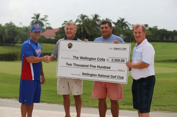Chad Mills, Doug Marty, Danny Navarette and Chip Smith of Wellington  National Golf and