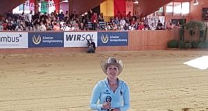 Die FEI Reining Europameisterin 2016 Gina Schumacher ist auch heuer wieder ein wichtiger Teil des deutschen Teams. © EQWOnet / Christine Mühlthaler