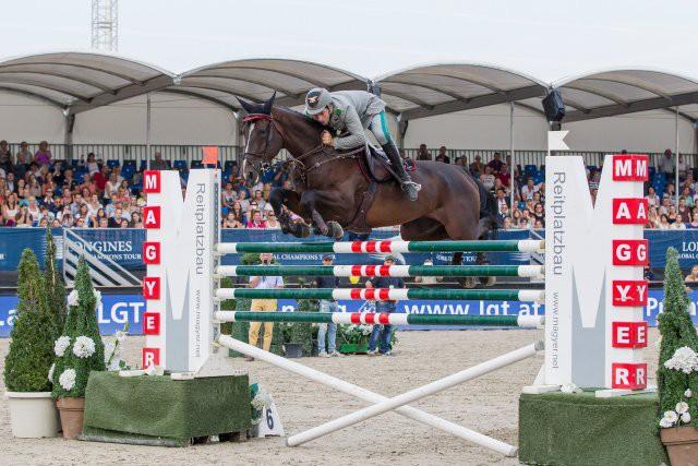 Emanuele Gaudiano (ITA) und Guess bezwangen die 1.90 m. © Michael Graf
