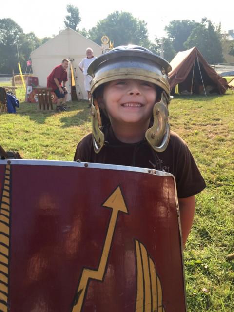 Ready to rumble! Beim Kinderfest (Freitag-Sonntag) kann man sogar zum Römer werden. © EQWO.net