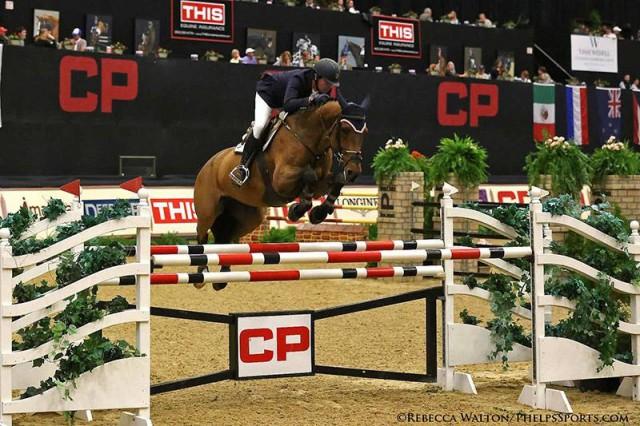 Roberto Teran and Woklahoma at the 2015 CP National Horse Show © Rebecca Walton