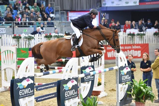 Publikumsliebling und Rekordsieger Hugo Simon gelang ein perfekter Auftakt. © horsesportsphoto.eu