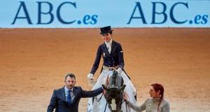 Beatrz Ferrer Salat und Sir Radjah siegen in der Grand Prix Kür von Madrid. © OxerSport