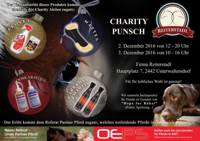 Charity Punsch am 2. und 3. Dezember im Reiterstadl in Unterwaltersdorf. © Reiterstadl