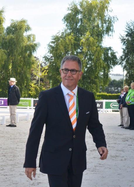 Der niederländische Bondscoach Wim Ernes 2015 bei der Europameisterschaft Dressur in Aachen. Nun ist Wim verstorben. © Equestrian Worldwide - EQWO.net | Ruth Büchlmann