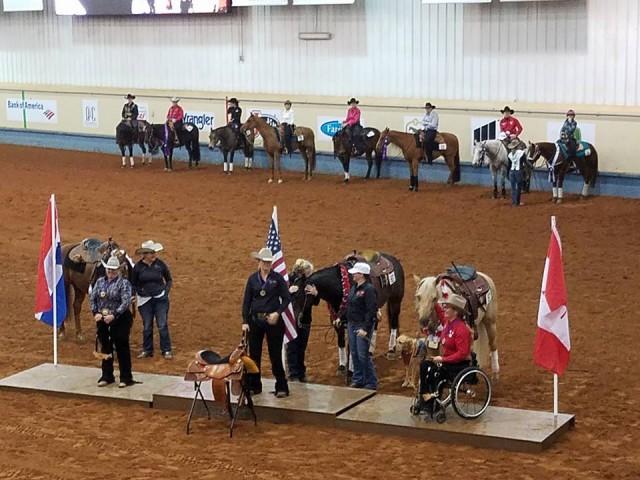 Das Podium der World Para Reining Championship. © Privat