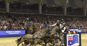 Boyd Exell's team was 'on song' in the electric atmosphere at London Olympia. © FEI /Trevor Meeks