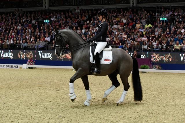 Valegro wird morgen im Rahmen von Olympia, The International Horse Show, von Charlotte Dujardin aus dem Sport verabschiedet. © Kit Houghton