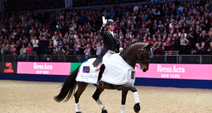 Carl Hester was crowned winner of the FEI World Cup™ Dressage Grand Prix supported by Horse & Hound aboard his Rio Team silver medal winning horse Nip Tuck. © Olympia Horse Show