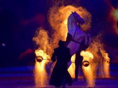 Die HOP TOP Show vereint im Rahmen der EQUITANA die besten Showakteure der Welt in einer knapp 150 minütigen Show. © EQUITANA