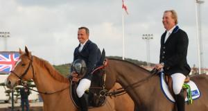 Zwei lachende Sieger - Olivier Robert (li.) und William Funnell in Mijas. © Hippodromo Costa del Sol