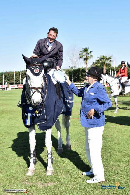 Guy Williams und Depardieu Van't Kiezels - die strahlenden Sieger des Invitational Grand Prix in Spanien. © Moisés Basallote