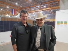 Judge Jan Boogarts (Belgien) und der Präsident der Austrian Reining Horse Association Helmut Schulz erwarten ein spannendes Finale in Cremona. © EQWO.net
