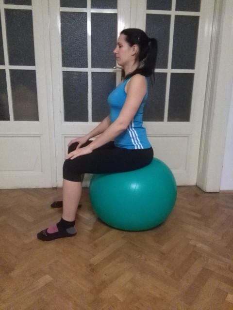 """""""Beckenbewegungen am Gymnastikball"""": das Becken wird abwechselnd nach vorne, nach hinten, nach links oder nach rechts gekippt. © fit 4 riding®"""