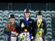 Individual medalists Shelly Francis (USA), Megan Lane (CAN), and Lisa Wilcox (USA). © Susan Stickle