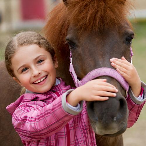 Schon früh lernen Kinder von Pferden. © Gorillaimages / Shutterstock