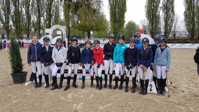 Die Teilnehmer des EQWO.net Pony Grand Prix Linz-Ebelsberg. © EQWO.net / DKB
