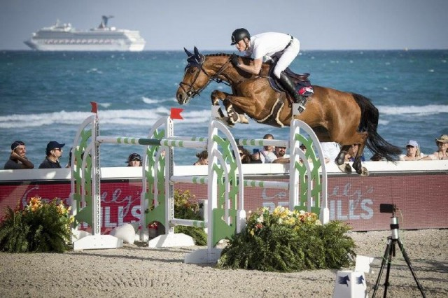 Max Kühner und Electric Touch bei der Longines Global Champions Tour von Miami Beach. © Czech Equestrian Team / Berlin Lions