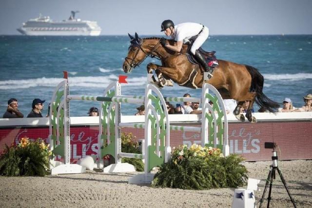 Max Kühner und Electric Touch bei der Longines Global Champions Tour von  Miami Beach. © Czech Equestrian Team / Berlin Lions
